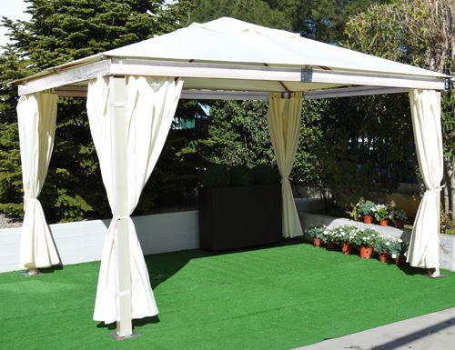 TELO di RICAMBIO per tende Laterali per GAZEBO in LEGNO BIANCO Mod. SANTORINI  eBay