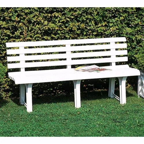 Panche In Plastica Per Esterno.Panchina Da Giardino In Resina Mod Atena Bianca 150x51x73h Cm Made In Italy Ebay