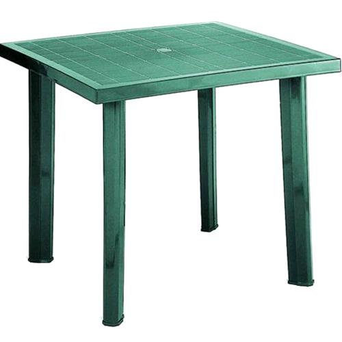 Tavolo Quadrato da Giardino Esterno In Pp Fiocco Verde Cm ...